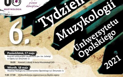 Zmiany w organizacji VI Tygodnia Muzykologii oraz XII Ogólnopolskiego Zjezdu Studentów Muzykologii